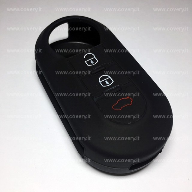 cover chiave fiat 500 nera